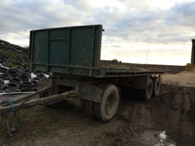 3axle twin under body hoist farm trailer