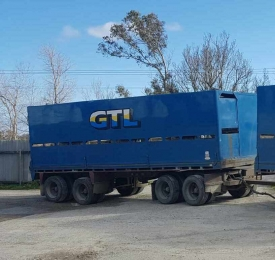 4 AXLE 26FT 1/2 DECK CRATE