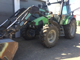 DEUTZ-FAHR 105 TRACTOR & LOADER WITH BUCKET