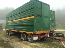FRUEHAUF 8.8M TRAILER & 2/4 DECK CRATE