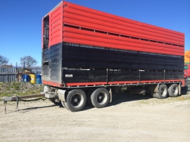 FRUEHAUF TRAILER & 2/4 DECK CRATE