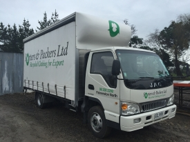 JAC curtain side box body truck