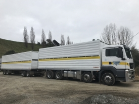 MAN 35-540TGS COMPLETE WITH MATCHING CRATES AND TRAILER